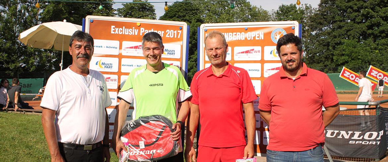 Gerrit Christoph (TC Grün-Weiß e.V. Emmendingen) siegt bei den Herren 50